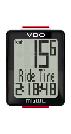 VDO M1.1 WL fietscomputer Funk zwart